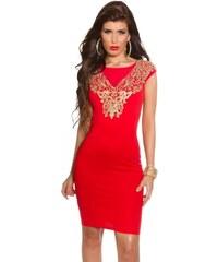 Koucla Dámské červené šaty