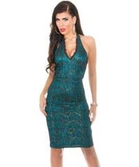 Koucla Dámské zelené společenské šaty