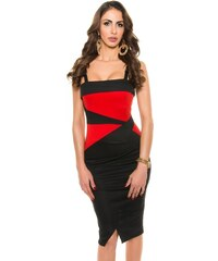 Koucla Elegantní černo-červené šaty
