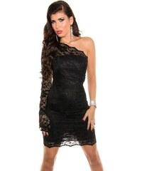 Koucla Černé krajkové šaty