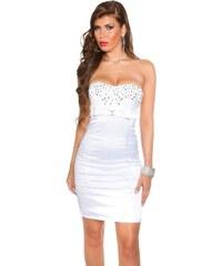 Koucla Dámské bílé koktejlové šaty