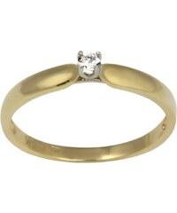 KLENOTA Zlatý prsten s briliantem
