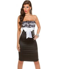 Koucla Černo-bílé elegantní šaty