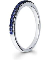 KLENOTA Safírový snubní prsten