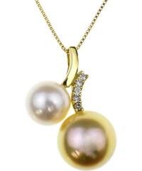 KLENOTA Zlatý perlový přívěsek