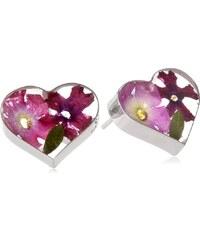 KLENOTA Stříbrné náušnice s pravými květinami