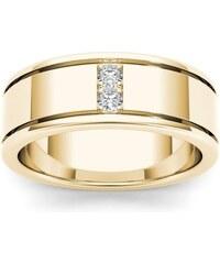 KLENOTA Zlatý pánský prsten s brilianty