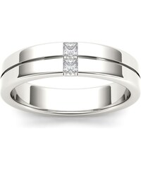 KLENOTA Pánský prsten s brilianty z bílého zlata