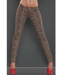 Koucla Skinny leopardí džíny