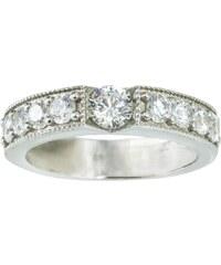 KLENOTA Stříbrný zásnubní prsten se zirkony