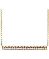 KLENOTA Briliantový náhrdelník ze žlutého zlata