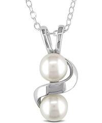 KLENOTA Stříbrný přívěsek s perlami