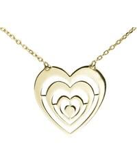 KLENOTA Zlatý řetízek s přívěskem ve tvaru srdce