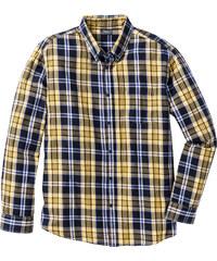 bpc bonprix collection Chemise à carreaux manches longues Regular Fit jaune homme - bonprix