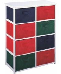 Tempo Organizér na hračky s barevnými boxy
