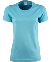 Dámské tričko Basic Tee - Tyrkysově modrá S