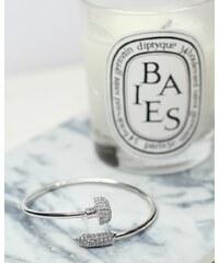 Fame Accessories Náramek hřebík ve stříbrné barvě s krystaly