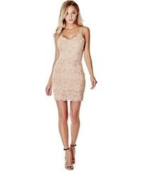 Šaty Guess Jessica Sleeveless Lace Dress béžové f8a146086d