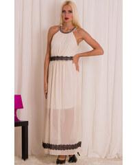 Glamorous by Glam Dlouhé šaty s černou krajkou