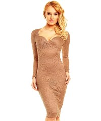 Mayaadi Béžové krajkové šaty