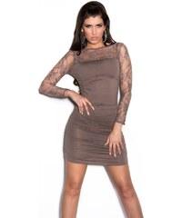 Koucla Dámské mini šaty s krajkovými rukávy