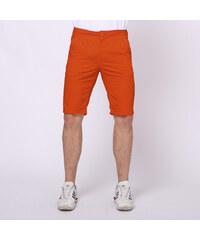 Re-Verse Klassische Chinoshorts Unifarben - Orange - W30