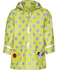Playshoes Baby - Mädchen Regenbekleidung 408592 Regenjacke Punkte mit Reflektoren, Oeko-Tex Standard 100, Gr. 80, Grün (original)