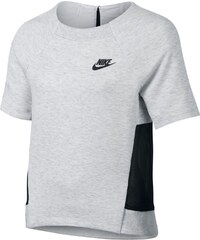 Nike Tech Fleece - T-Shirt - hellgrau