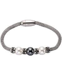 firetti Armschmuck: Armband in Meshgliederung mit Perlen und Magnetverschluß