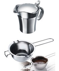 WESTMARK Set: Thermo-Sauciere und Butter-/Schokoladenpfännchen