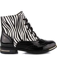 Ctogo GOGO Kotníkové boty - zebra 6722-1B