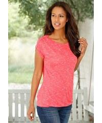 Lascana Damen T-Shirt mit Schulterraffung rot 32/34,36/38,40/42,44/46