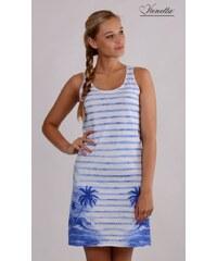 Vienetta Plážové šaty na ramínka Ostrov - modrá