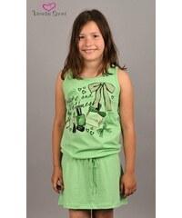 Vienetta Secret Dětská noční košile na ramínka Beauty - zelená