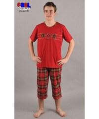 Gazzaz Pánské pyžamo kapri Koně - červená