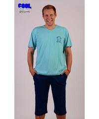 Gazzaz Pánské pyžamo kapri Milan - tyrkysová