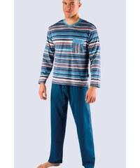 GINA GINA-79007P-BLUE: Pánské pyžamo GINA dlouhé