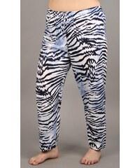 Vienetta Dámské pyžamové kalhoty Tygr - světle modrá