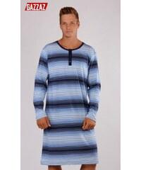 Gazzaz Pánská noční košile s dlouhým rukávem Šimon - modrá