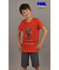 Cool Comics Dětské pyžamo bermudy Champions - oranžová