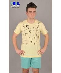 Cool Comics Pánské pyžamo šortky David - světle žlutá