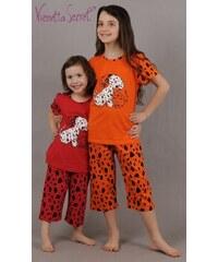 Vienetta Secret Dětské pyžamo kapri Pes Dalmatin - oranžová