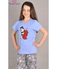 Vienetta Secret Dětské pyžamo kapri Méďa u kormidla - modrá