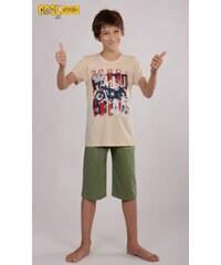 Cool Comics Dětské pyžamo kapri Motocykl - béžová