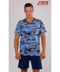 Gazzaz Pánské pyžamo šortky Army - modrá
