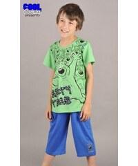 Cool Comics Dětské pyžamo kapri Medvěd na párty - zelená