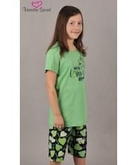 Vienetta Secret Dětské pyžamo kapri Pes Fintilka - zelená
