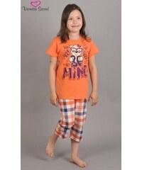 Vienetta Secret Dětské pyžamo kapri Méďa Mine - oranžová