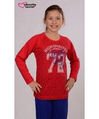 Vienetta Kids Dětské pyžamo dlouhé Girls - jahodová