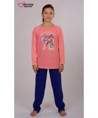 Vienetta Kids Dětské pyžamo dlouhé Girls - lososová